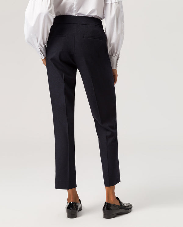 Cropped Business Pants Navy Blue