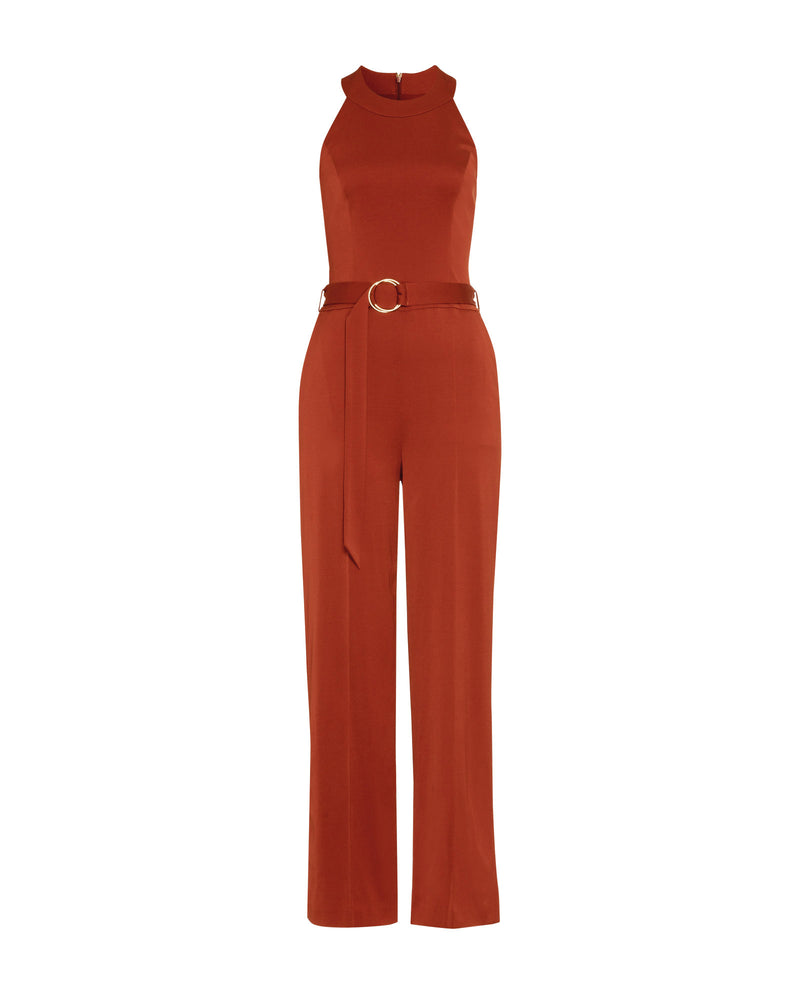 Belt Jumpsuit Red Clay