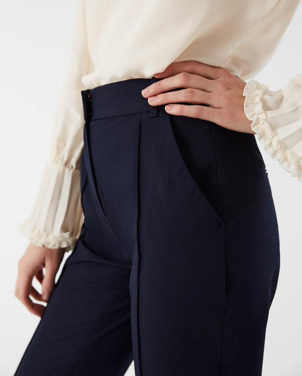 Cropped Pants Navy Blue