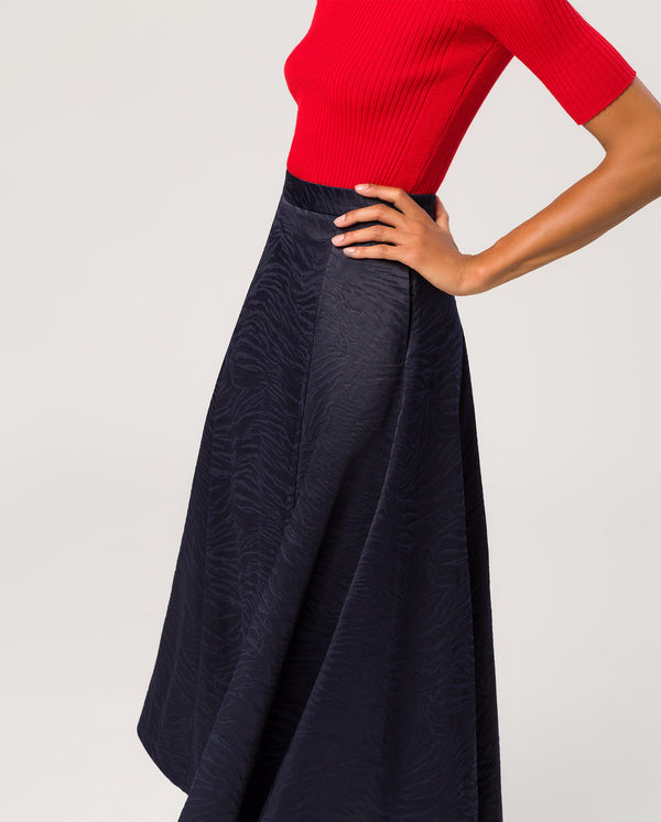 Swing Skirt Midi Navy Blue