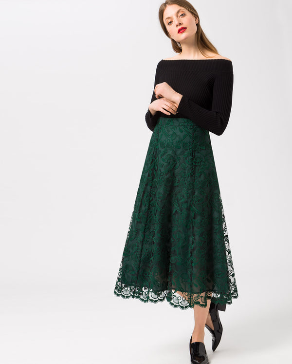 Embroidered Evening Skirt