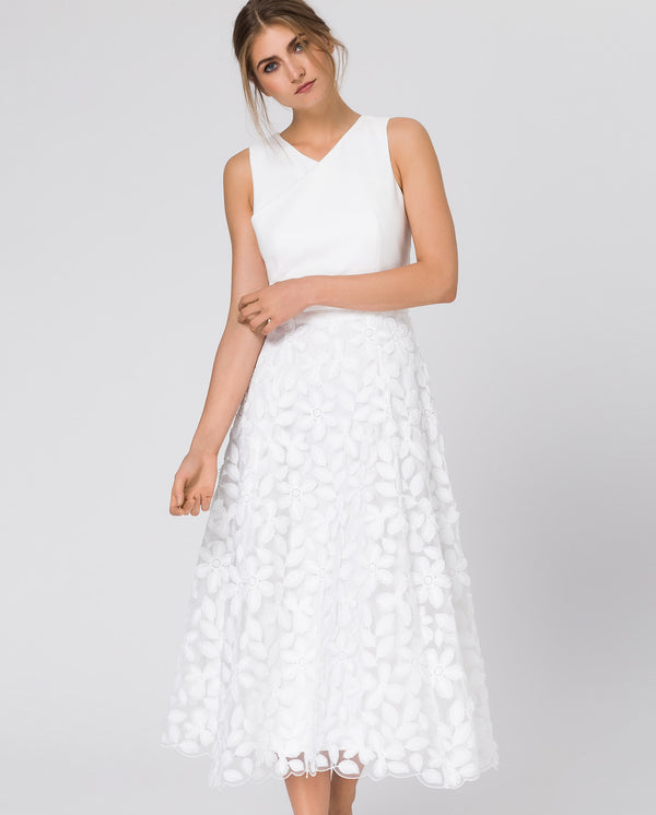 Bridal Embroidered Midi Skirt