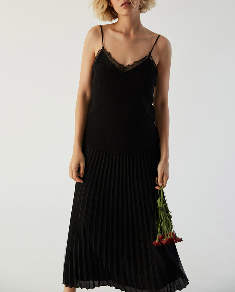 Plissée Skirt Black