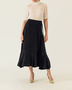 Valance Wrap Skirt Black