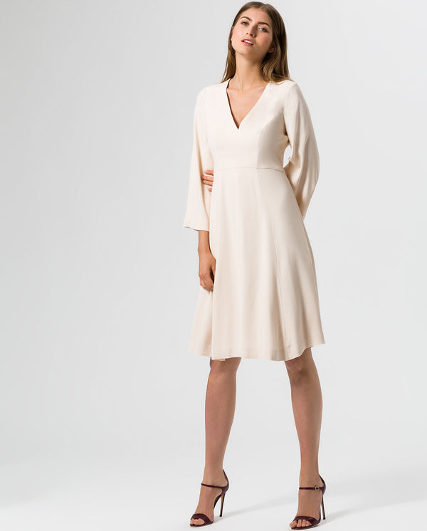 Midi-Dress Flared Sleeve