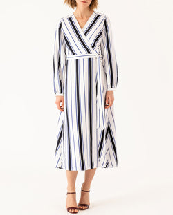 Midi Wrap Dress stripes