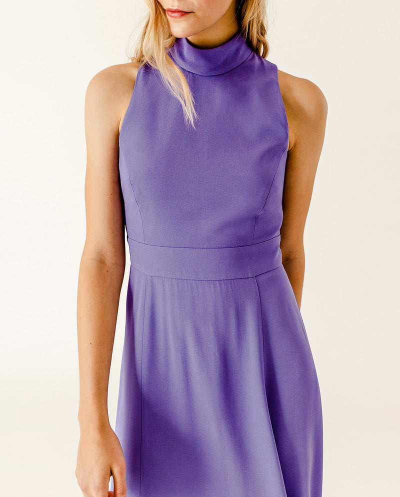 American Shoulder Midi Dress Dahlia Purple