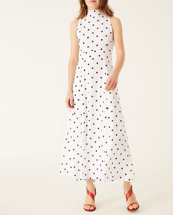 American Shoulder Midi Dress Snow White
