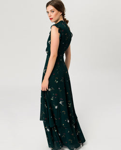 Ruffled Evening Dress Maxi