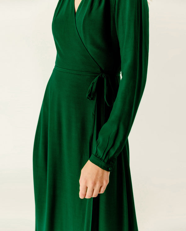 Maxi Wrap Dress Eden Green