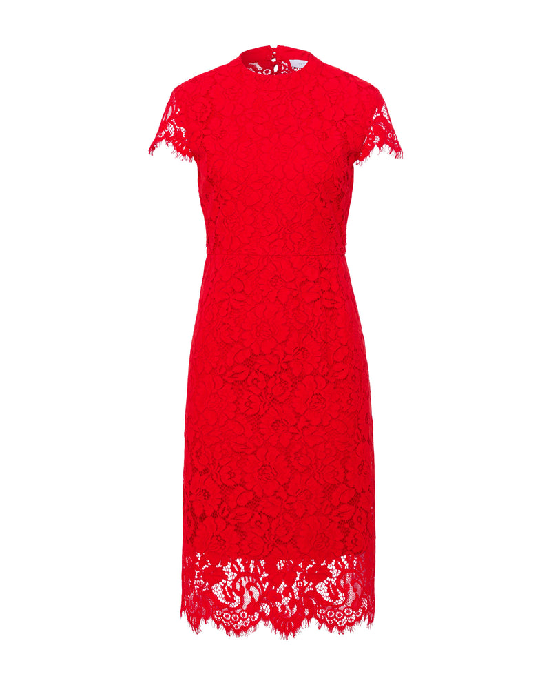 Cocktail Lace Dress Lovers Red