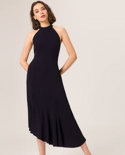 Neckholder Volant Dress