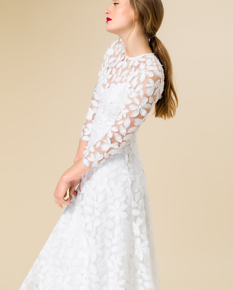 Bridal Embroidered Midi Dress