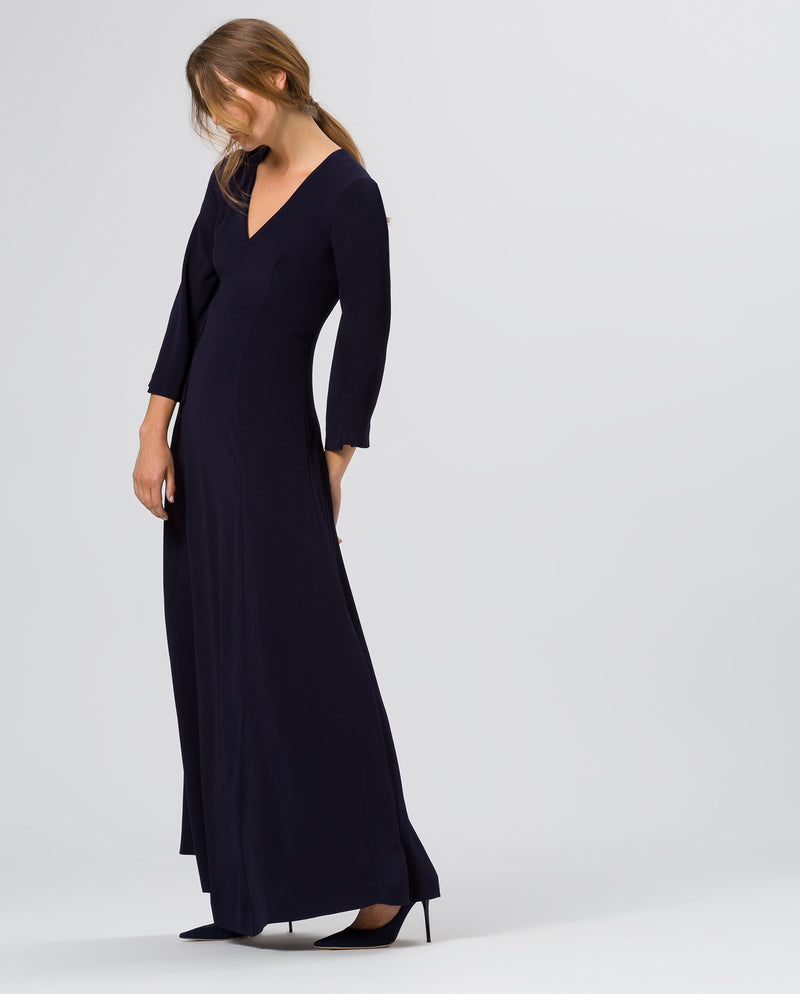 Flared Sleeve Evening Dress