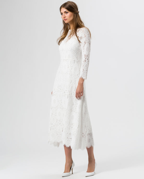 Ankle Length Lace Dress