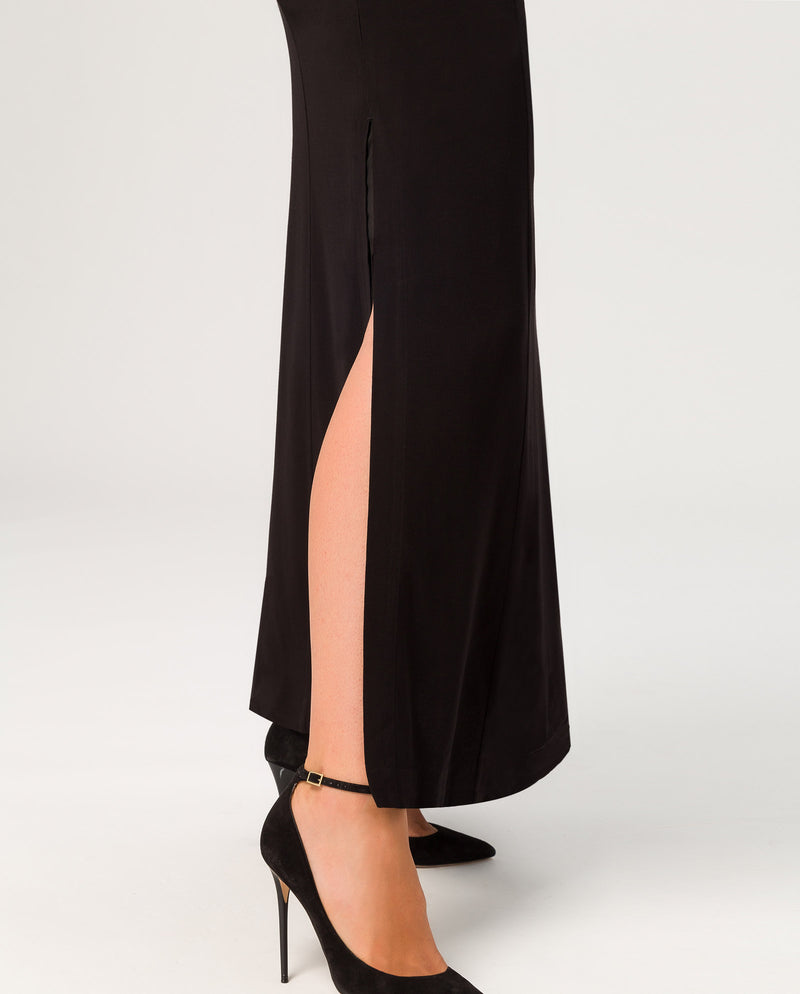 Deep V-Neck Evening Dress