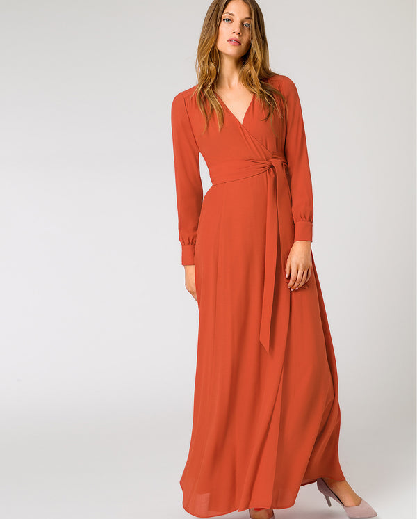 Wrap Evening Dress