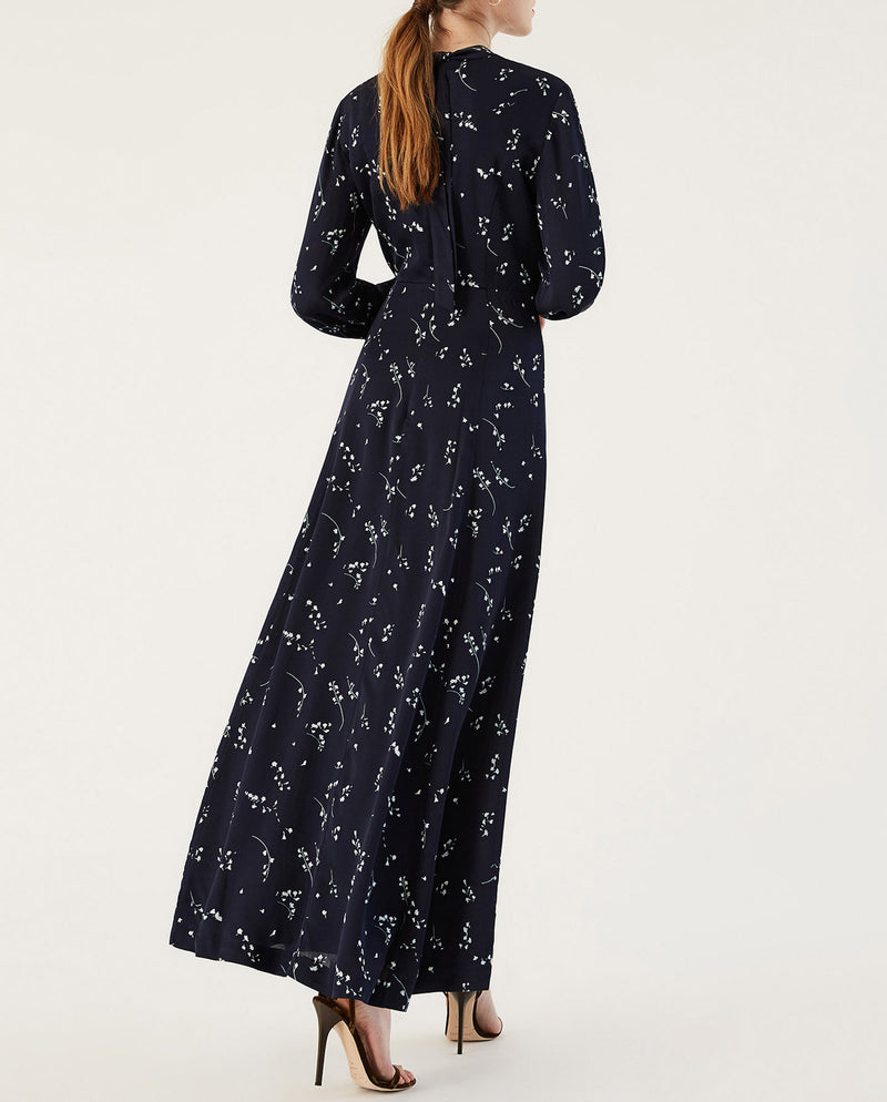 Long Printed Evening Dress
