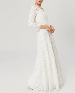 Flared Lace Dress Snow White