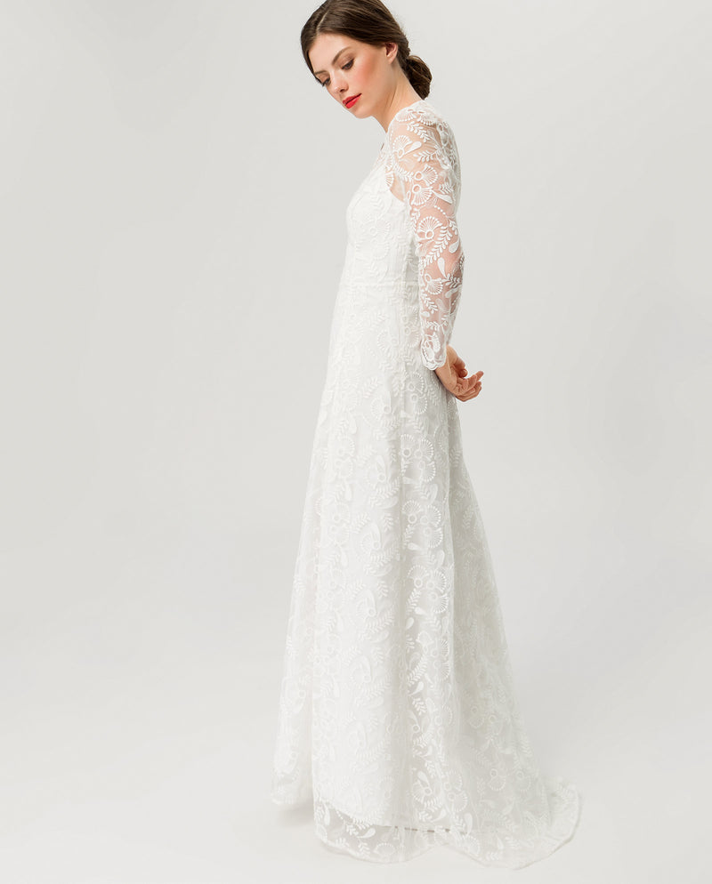 73718348cad0 Embroidered Bridal Dress Snow White – IVY   OAK