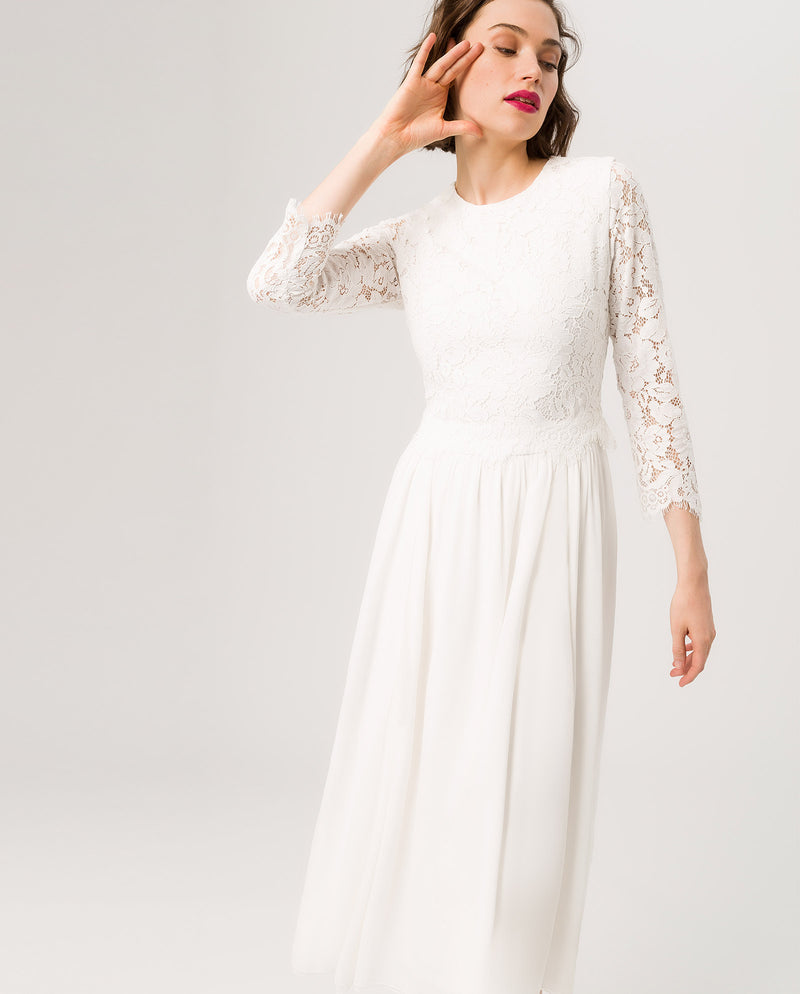 2in1 Bridal Midi Dress Snow White