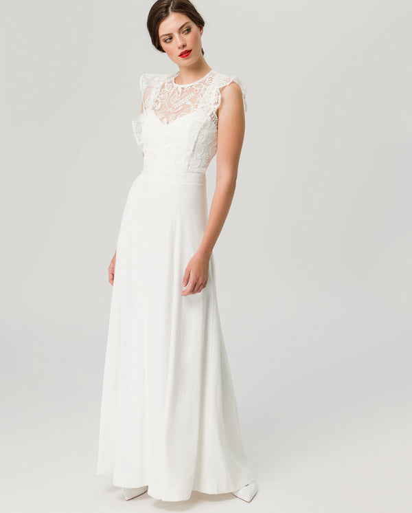 Volant Bridal Dress 2in1
