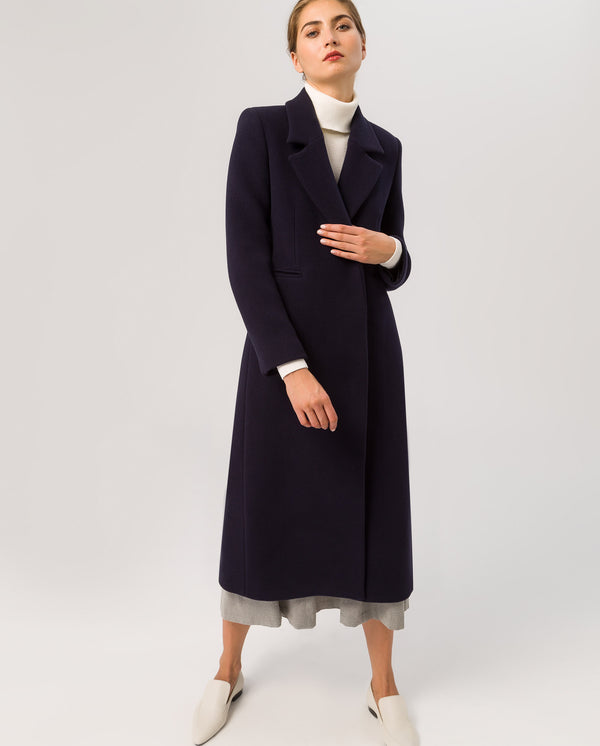 Maxi Coat Navy Blue