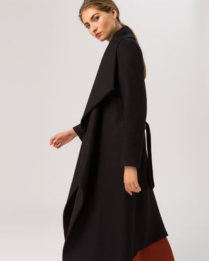 Bathrobe Coat Black