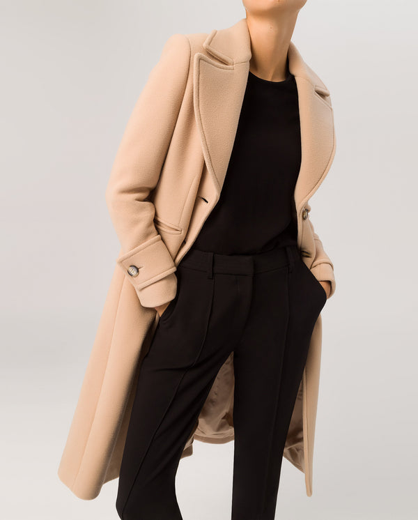 Wide Lapel Coat Sand