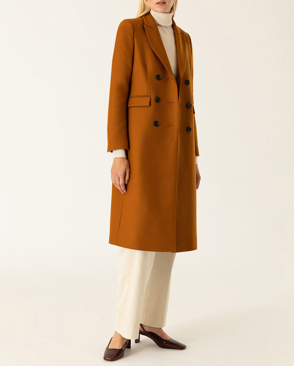 Classic double breasted Coat Cognac