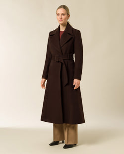 Coat with Statement Collar and Belt