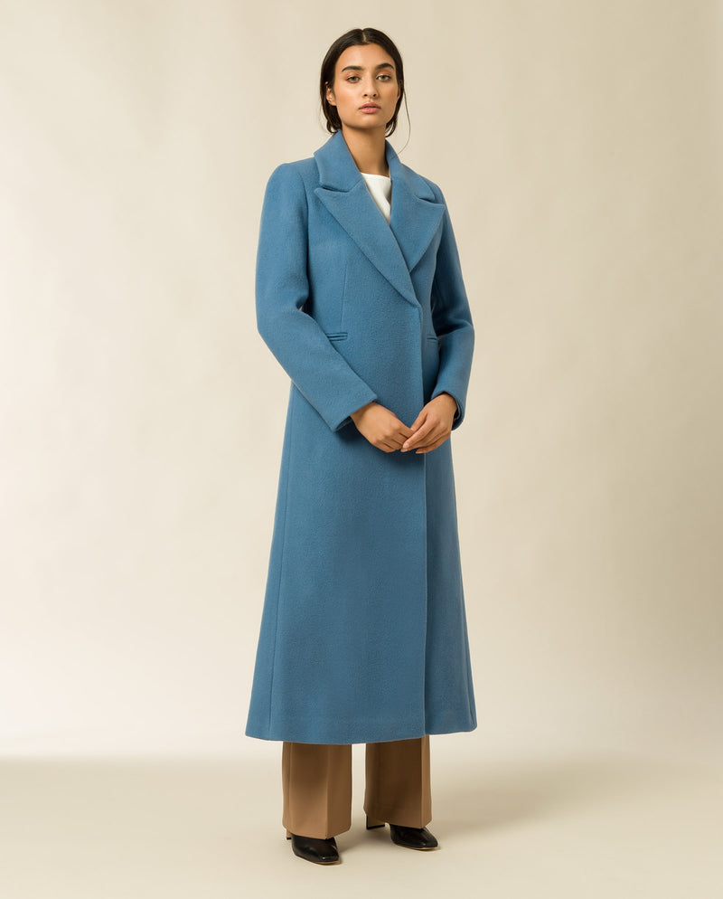 Maxi Coat light blue