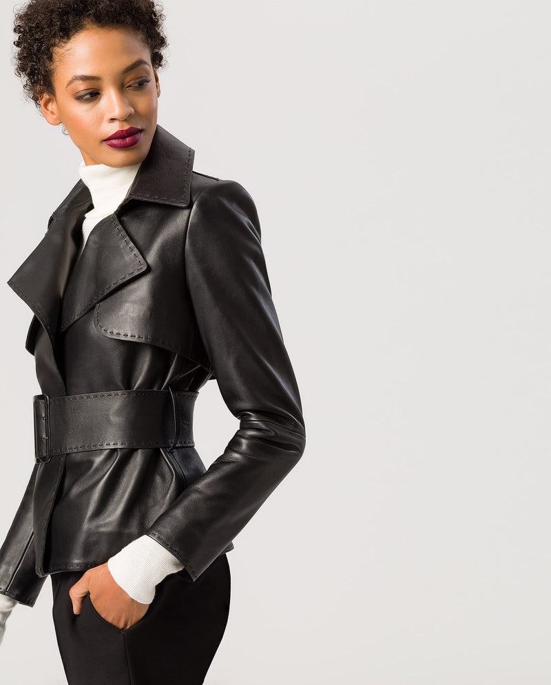 Nappa Belted Jacket