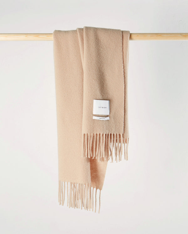 Wool Scarf with Fringes