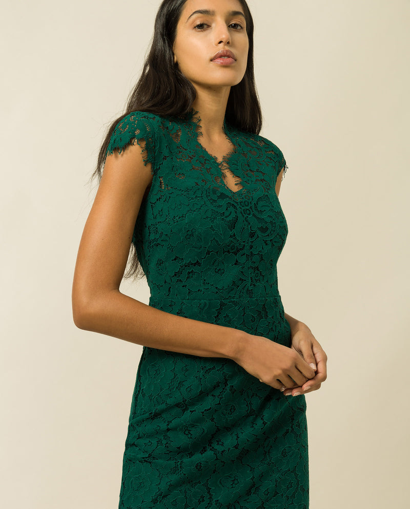 Midi Lace Shift Dress