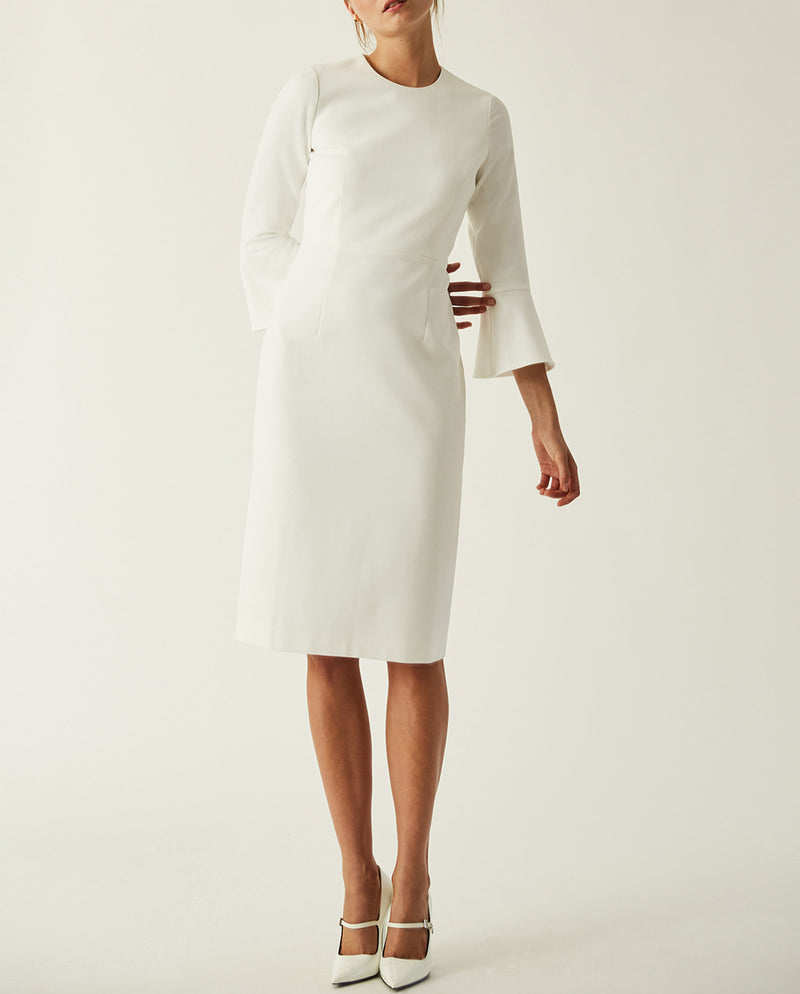 Midi Volant Sleeve Dress