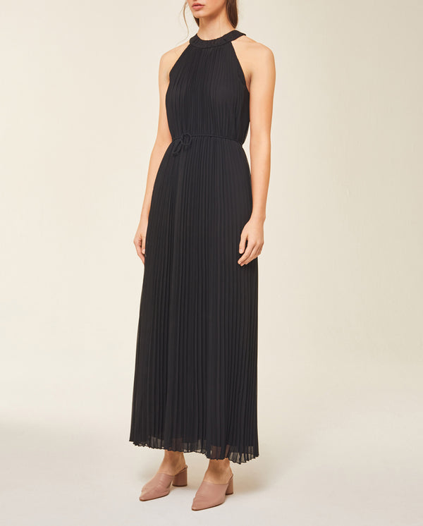 Maxi Pleated Neckholder Dress