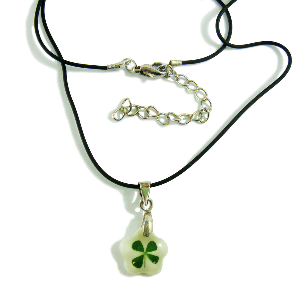 Real Lucky Clover Necklace Flower Shape (101B18)