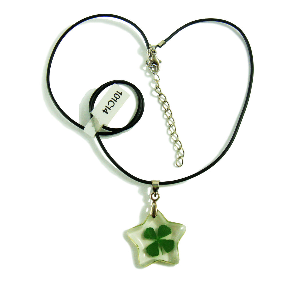 Real Lucky Clover Necklace Star Shape (101C14)