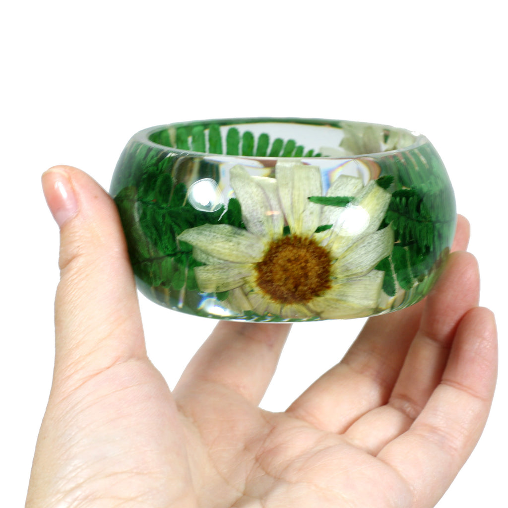 BG2534<br/>REAL PURPLE MARIGOLD BANGLE