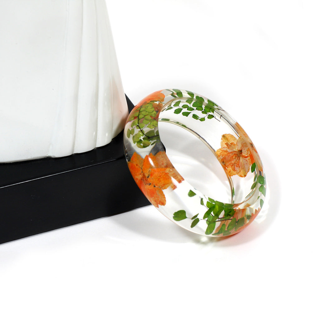BG2532<br/> REAL ORANGE LARKSPUR BANGLE