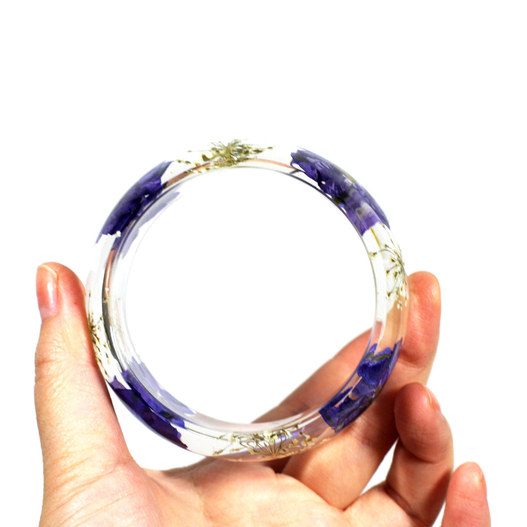 BG2531<br/>REAL PURPLE LARKSPUR BANGLE