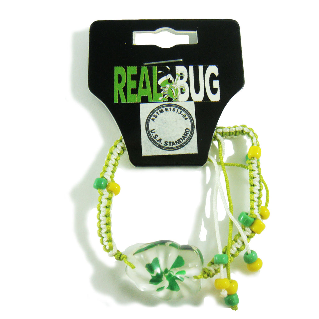 Real Lucky Clover Bracelet Gum Drop Shaped (311H11)