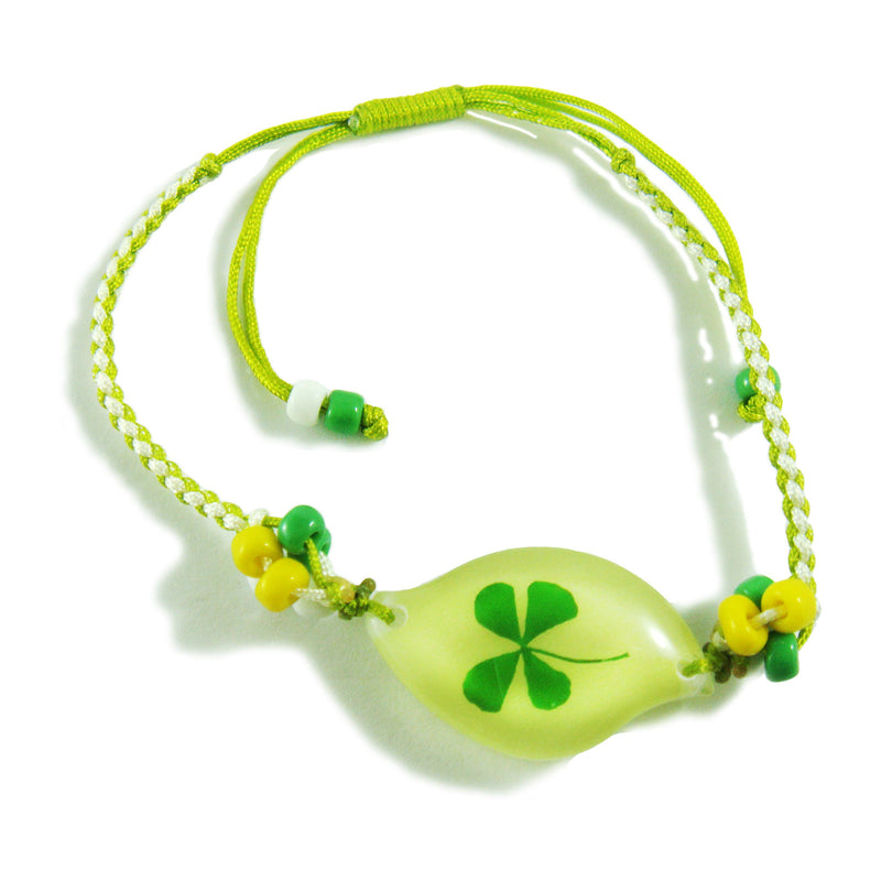 Real Lucky Clover Bracelet Swoosh Shaped (312H10)