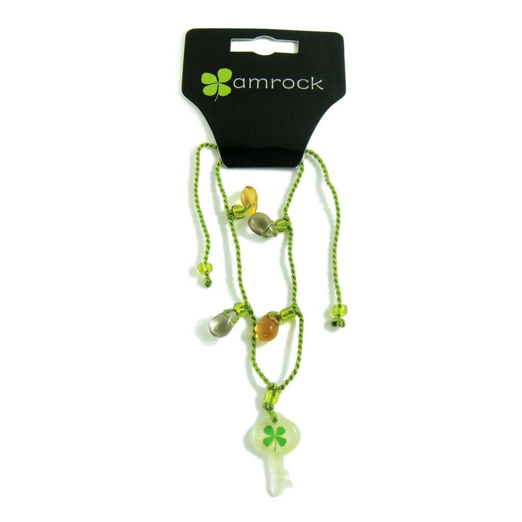 Real Lucky Clover Bracelet Key Shaped (314D05)