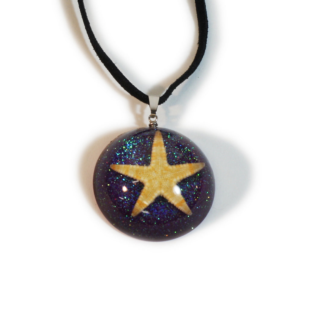 OP402<br/>Starfish Dome Necklace
