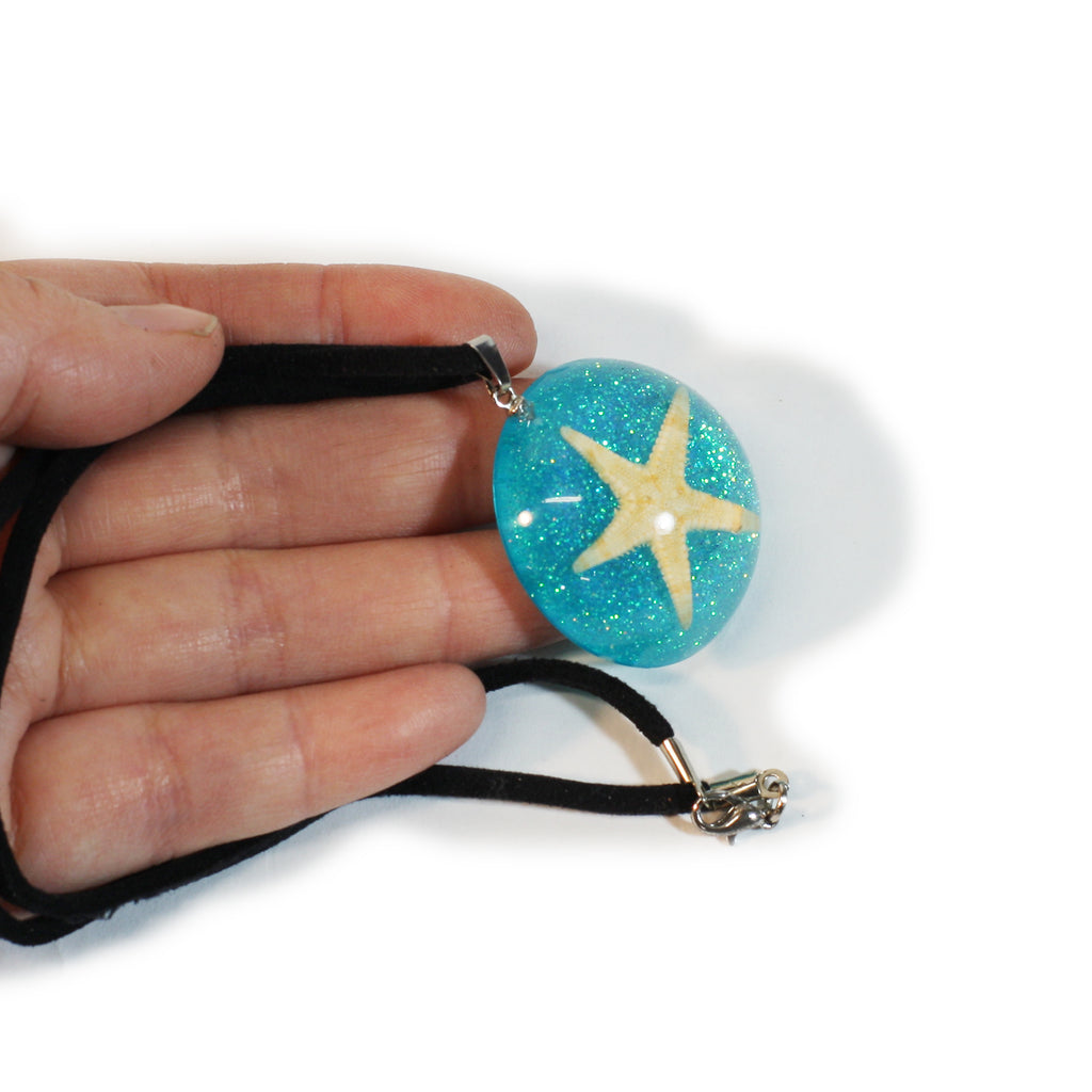 OP401<br/>Starfish Dome Necklace