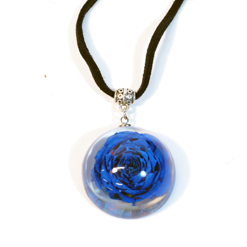 FPR301<br/>Flower Dome Necklace Rose