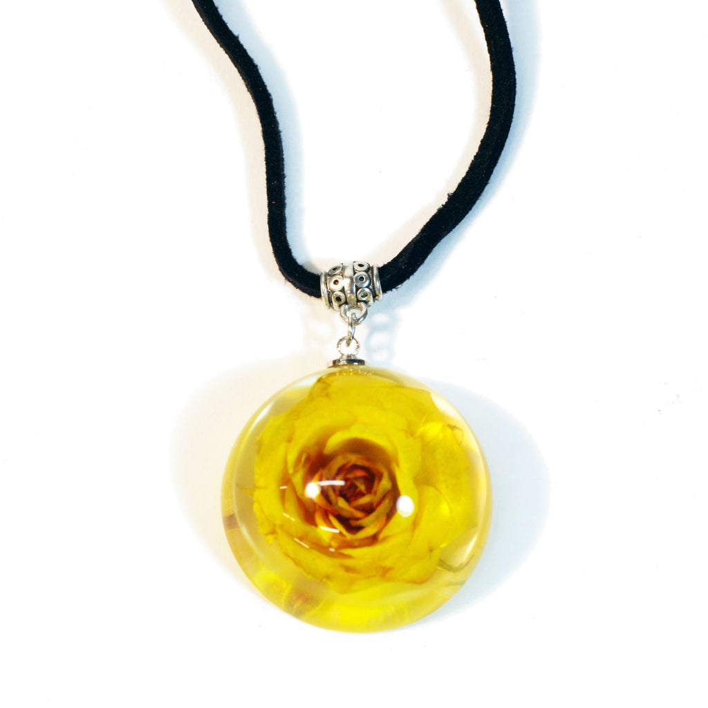 FPR303<br/>Flower Dome Necklace Rose