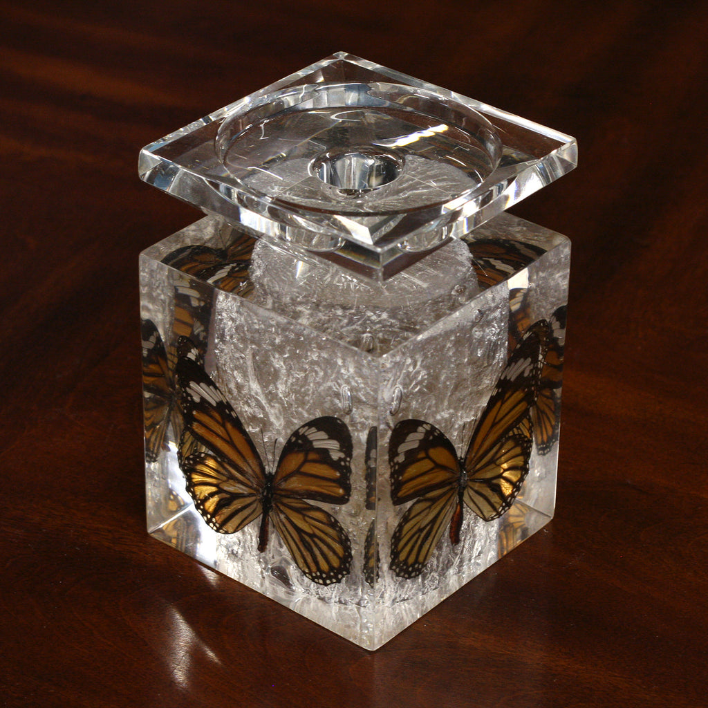 CD12<br/> Candle Holder, Common Tiger Butterflies